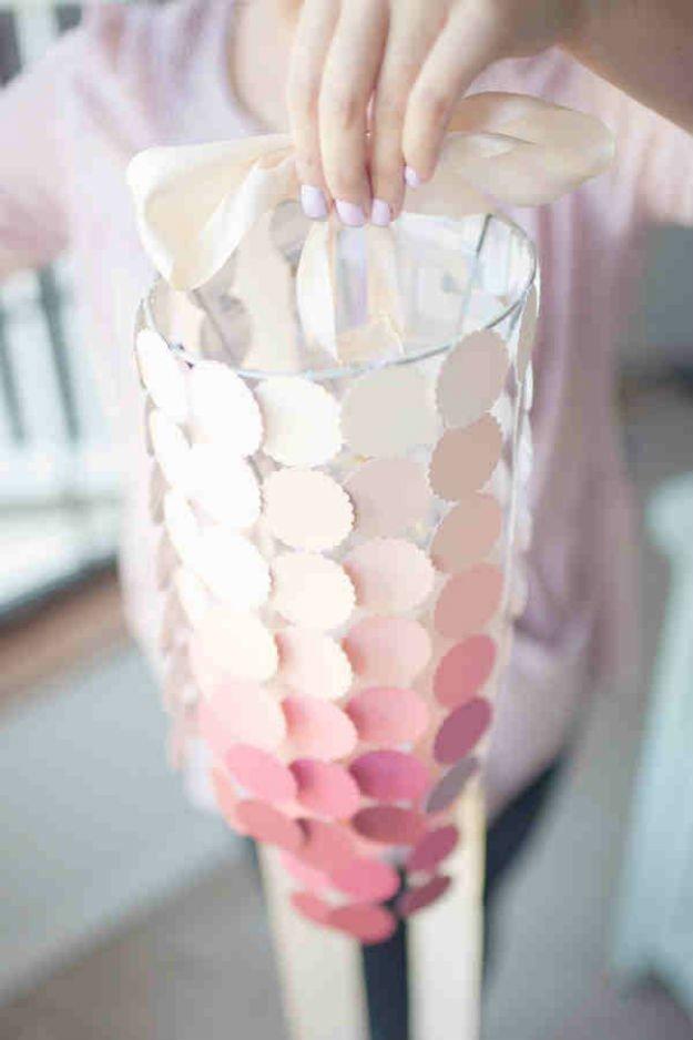 Paint Swatch Chandelier   17 Amazing DIY Paint Chip Projects -