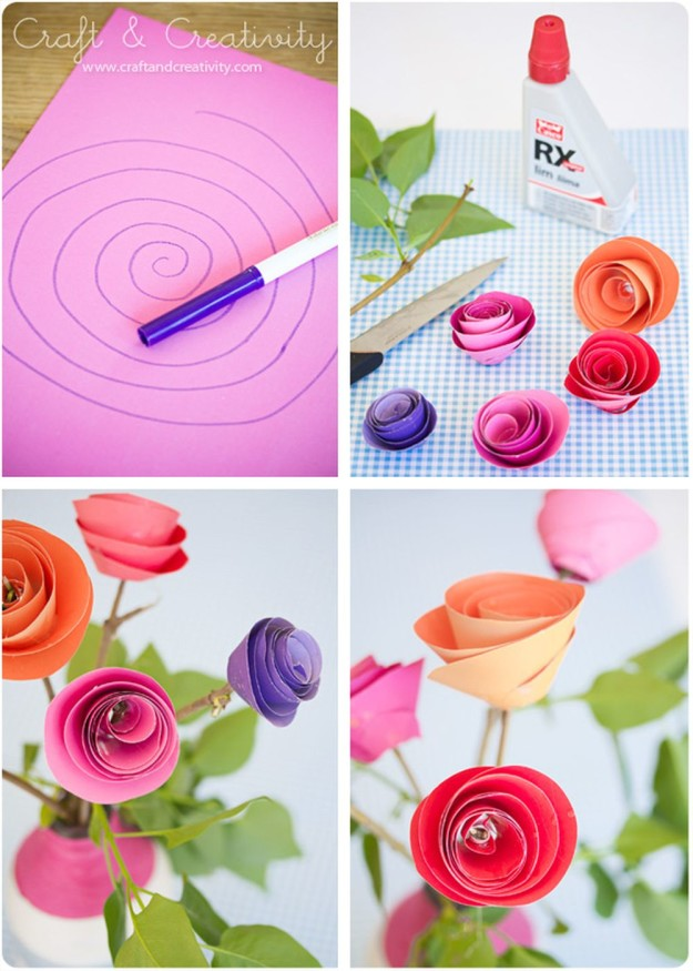10 construction paper flowers diy flower craft ideas