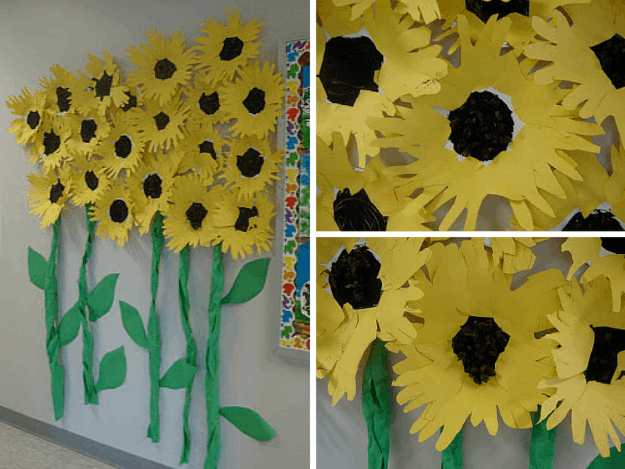 Sunflowers   10 Flower Craft Ideas: How to Make Construction Paper Flowers