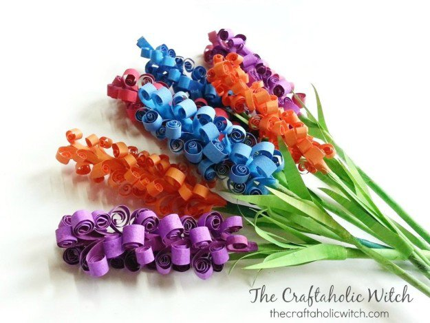 DIY Paper Hyacinth Flowers   10 Flower Craft Ideas: How to Make Construction Paper Flowers