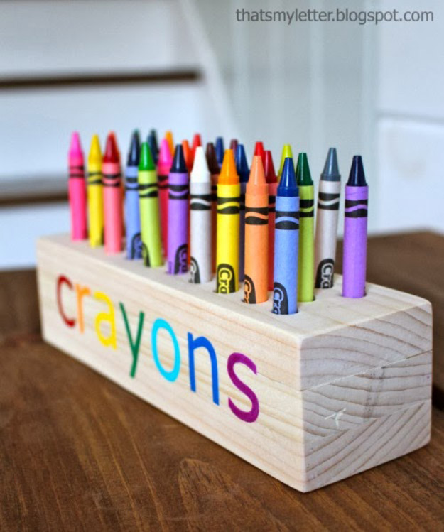 Crayon Holder Woodworking Projects for Kids