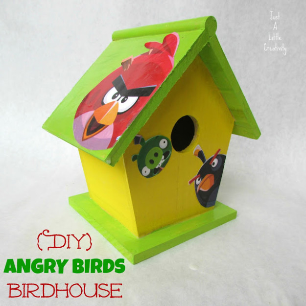 DIY Angry Birds Birdhouse Woodworking Projects for Kids