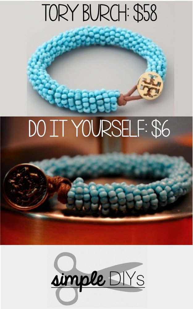 Tory Burch Inspired Beaded Bracelet | DIY Beaded Bracelets You Bead Crafts Lovers Should Be Making