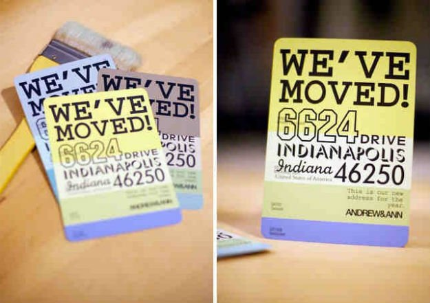 Moving Announcements   17 Amazing DIY Paint Chip Projects