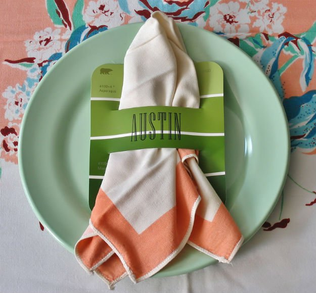 Napkin Holder   17 Amazing DIY Paint Chip Projects