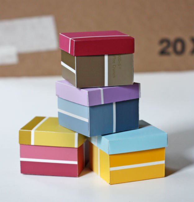 Paint Chip Boxes   17 Amazing DIY Paint Chip Projects