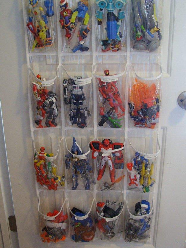 Shoe Toy Organizer   24 Smart DIY Toy & Crafts Storage Solutions