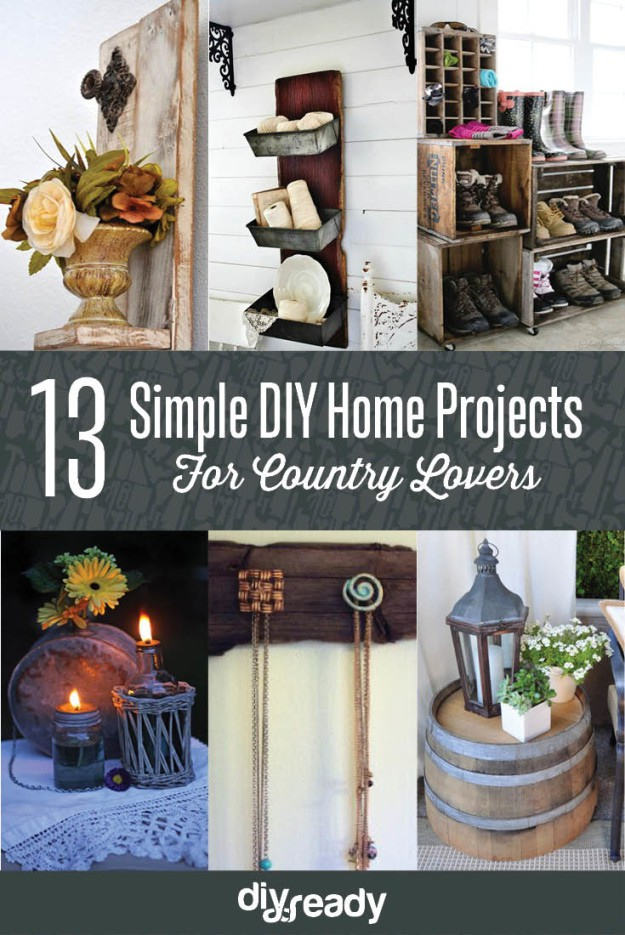 13 simple diy home projects for country lovers new craft for Easy home improvement projects