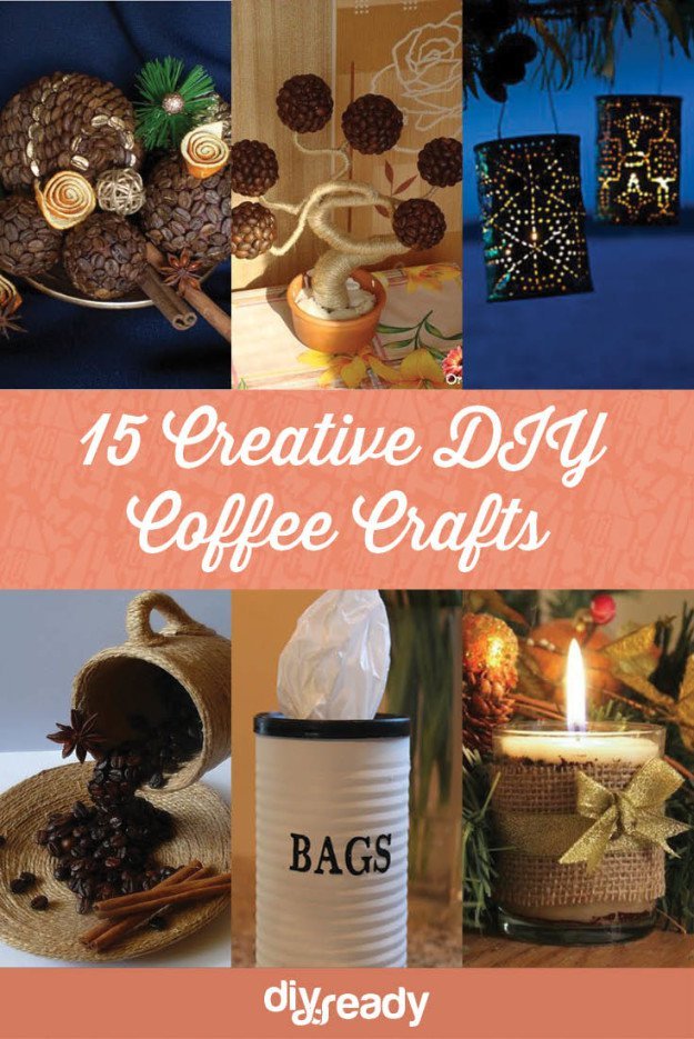 15 Creative DIY Coffee Crafts! See them all at Diyready