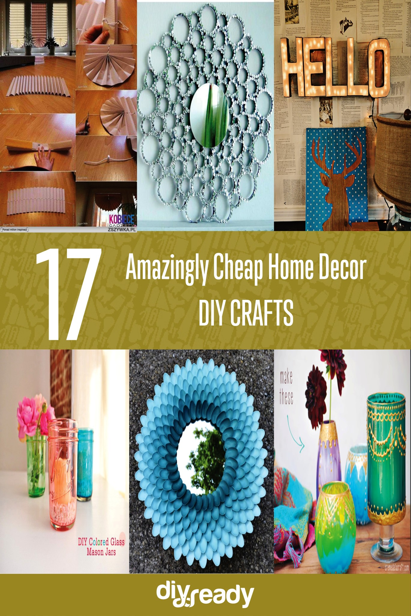 17 amazingly cheap home decor diy crafts new craft works for Cheap diy home decor