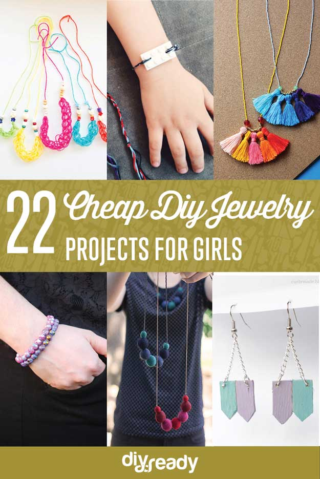 22 Cheap DIY Jewelry Projects for Girls