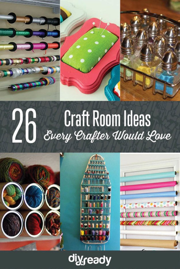 26 Craft Room Ideas Every Crafter Would Love See them all at Diyready