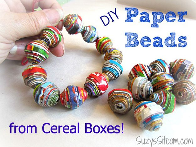 DIY Paper Beads   22 Cheap DIY Jewelry Projects for Girls