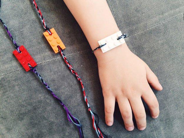 Lego Friendship Bracelet | 22 Cheap DIY Jewelry Projects for Girls
