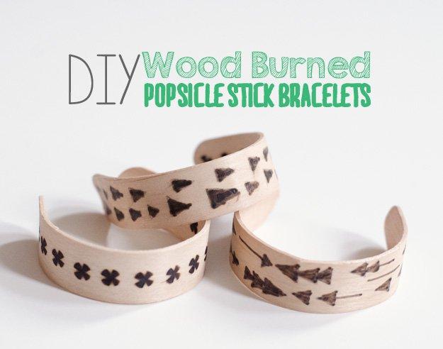 DIY Popsicle Stick Bracelets   22 Cheap DIY Jewelry Projects for Girls