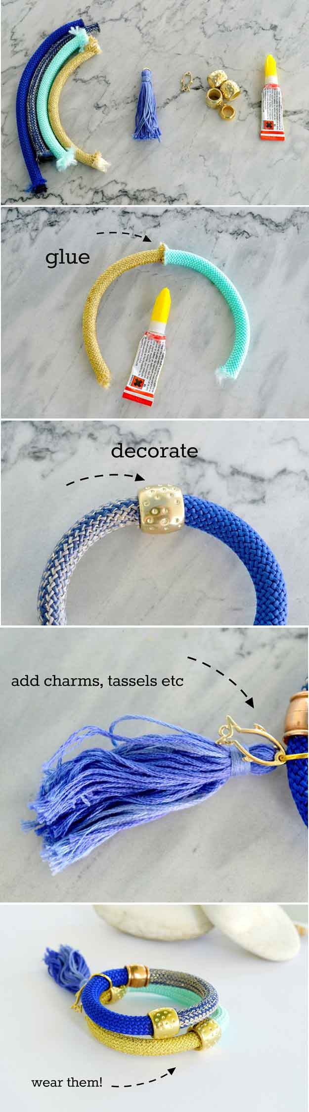 DIY Summer Bracelet   22 Cheap DIY Jewelry Projects for Girls