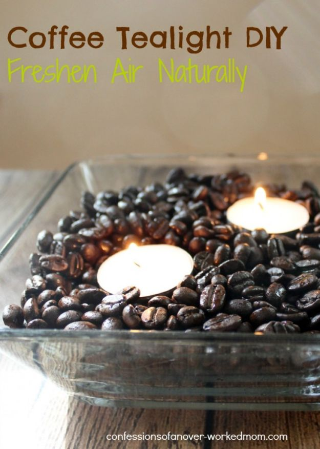 DIY Coffee Tealight | 15 Creative DIY Coffee Crafts
