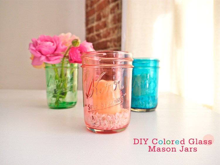 Colored Glass Mason Jars | 17 Amazingly Cheap Home Decor | DIY Crafts