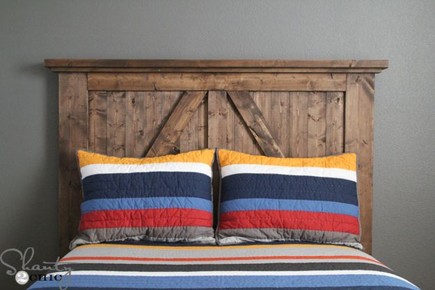 DIY Barn Door Headboard | 13 DIY Country Home Projects