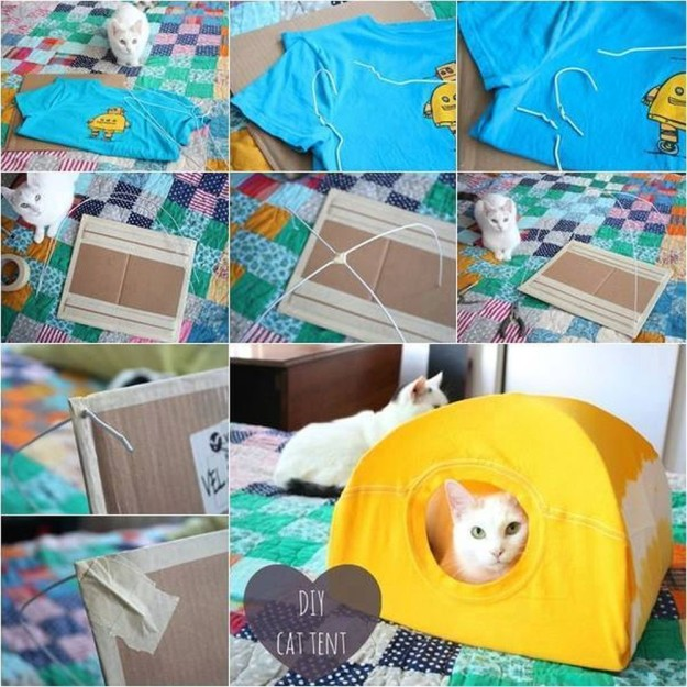 DIY Cat Tent | 25 DIY Projects Your Pet Will Love