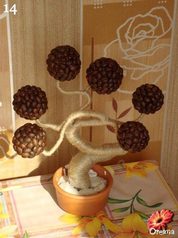 DIY Coffee Tree | 15 Creative DIY Coffee Crafts
