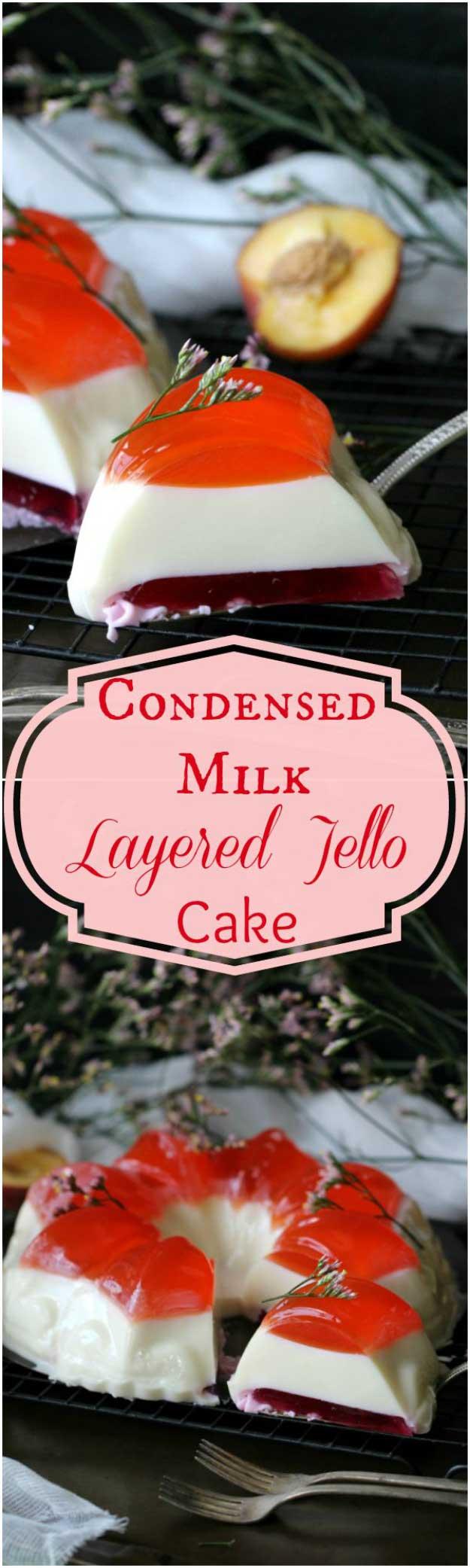 Bundt Jelly Cake with a Creamy Layer
