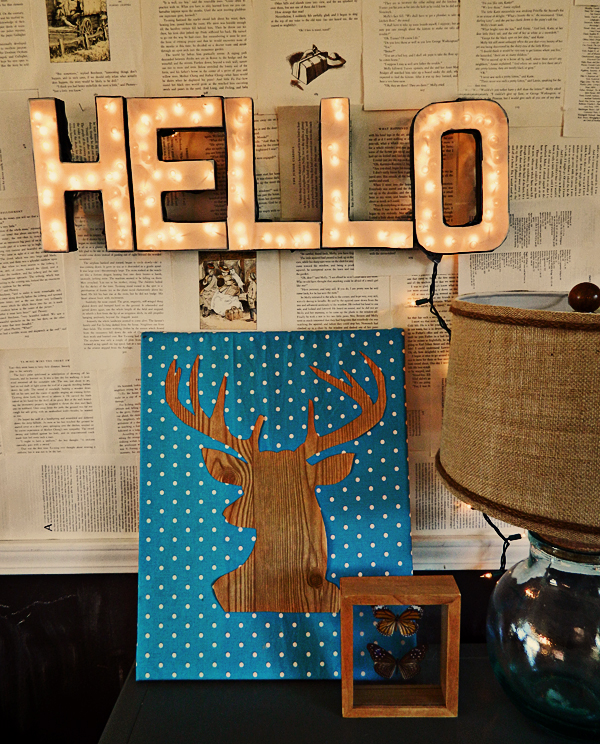 DIY Lighted Letter Sign | 17 Amazingly Cheap Home Decor | DIY Crafts