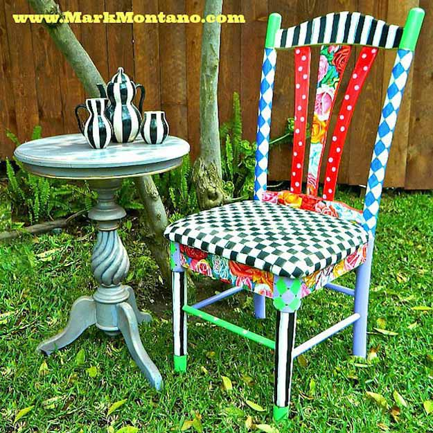 Alice in Wonderland Inspired Chair | 15 DIY Teen Girl Room Ideas