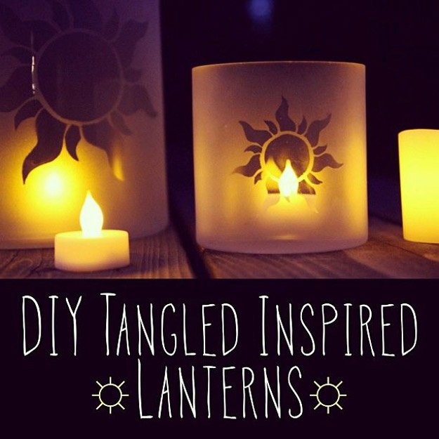 DIY Tangled Inspired Lanterns | 15 DIY Teen Girl Room Ideas