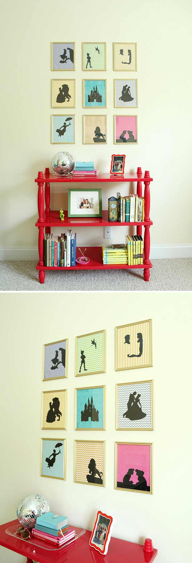 15 enchanted diy teen girl room ideas for disney fans new craft works - Teenage wall art ideas ...