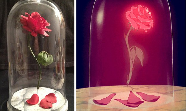 Beauty and the Beast Floating Rose | 15 DIY Teen Girl Room Ideas