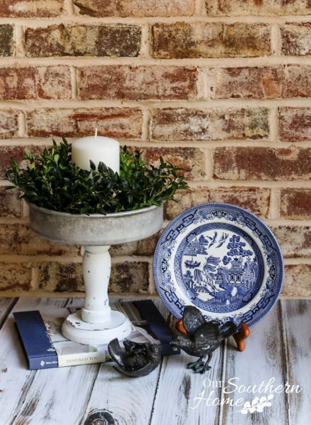 Farmhouse Candle Holder   13 DIY Country Home Projects