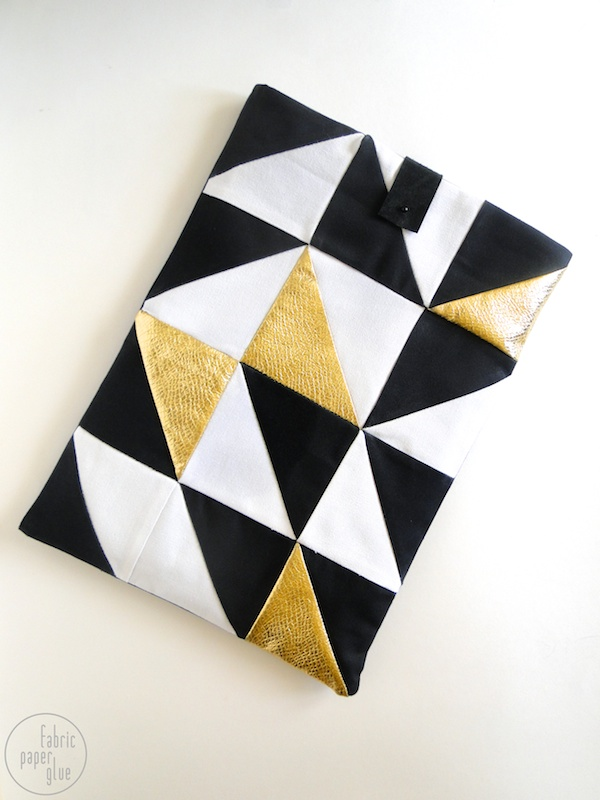Geometric Laptop Sleeve | 18 Ingenious DIY Projects to Make in Under an Hour