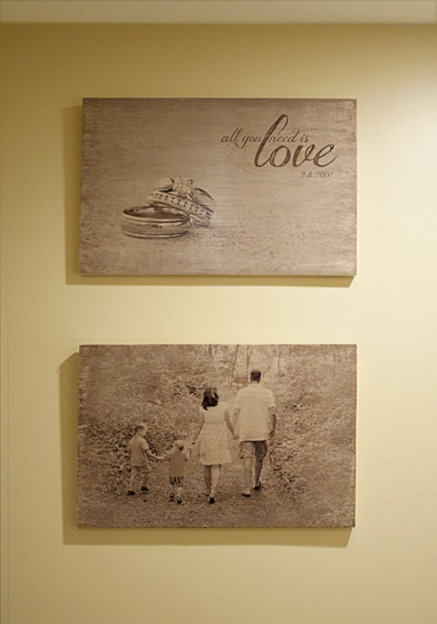 Photo Wood Transfer | 13 DIY Country Home Projects