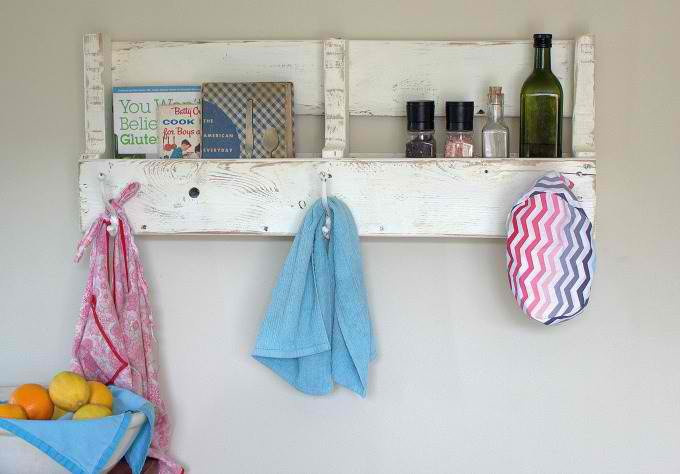 Reclaimed Wood Pallet Coat Rack and Shelf | 18 Ingenious DIY Projects to Make in Under an Hour