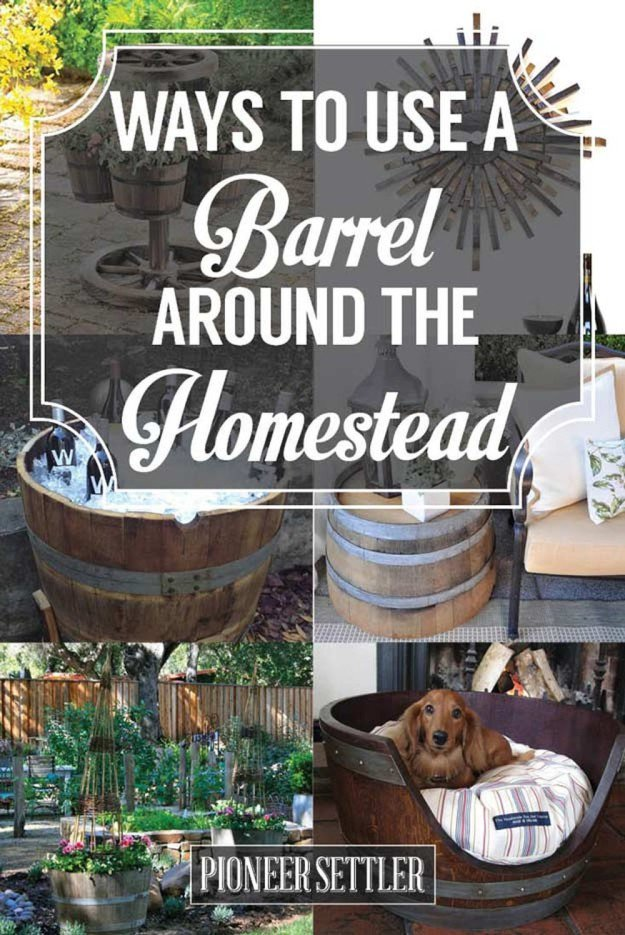 Reuse Wine Barrels | 15 Free Recycled Craft Ideas: Beautify Your Space Without Spending a Dime