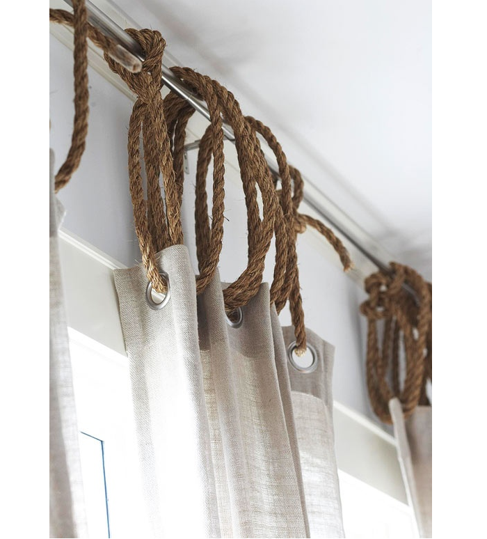 Rope as Curtain Ring | 17 Amazingly Cheap Home Decor | DIY Crafts