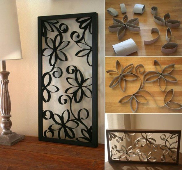 Toilet Paper Roll Wall Art | 15 Free Recycled Craft Ideas: Beautify Your Space Without Spending a Dime