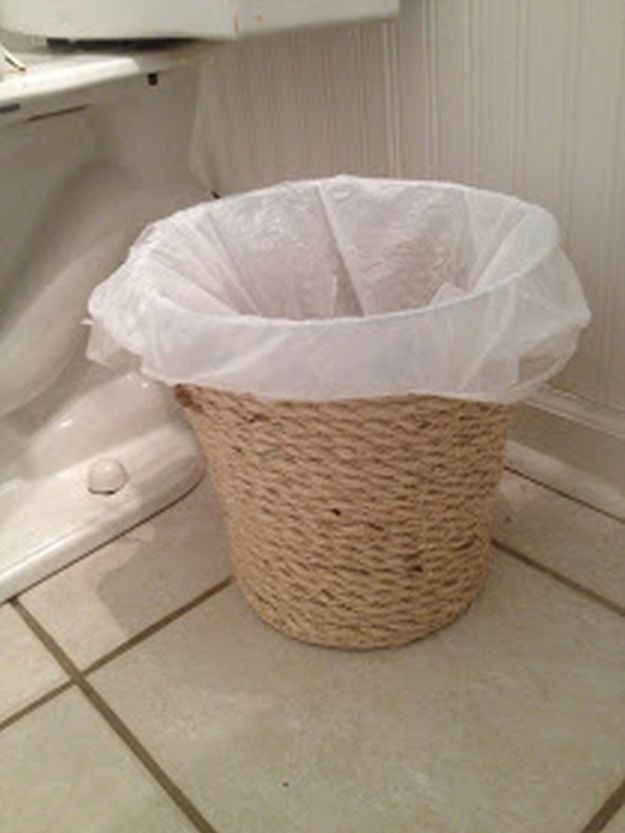 Trash Can Makeover | 13 Simple DIY Home Projects For Country Lovers