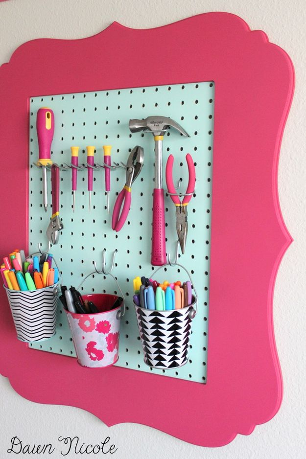 Turn Frames into Organizers | 26 Craft Room Ideas Every Crafter Would Love