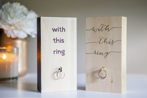 Wood Block Wedding Ring Holder | 18 Ingenious DIY Projects to Make in Under an Hour