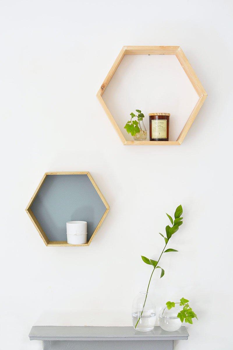 DIY Honeycomb Shelves | DIY Home Decorating Ideas For Mid Century Modern Lovers