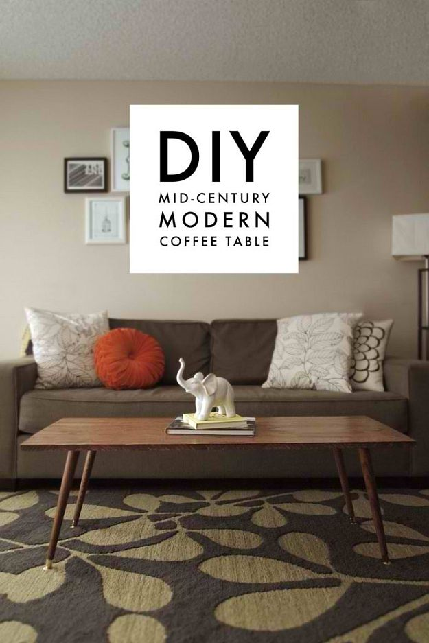 DIY Mid-Century Coffee Table | DIY Home Decorating Ideas For Mid Century Modern Lovers