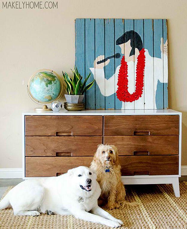 DIY Mid-Century Modern Dresser | DIY Home Decorating Ideas For Mid Century Modern Lovers