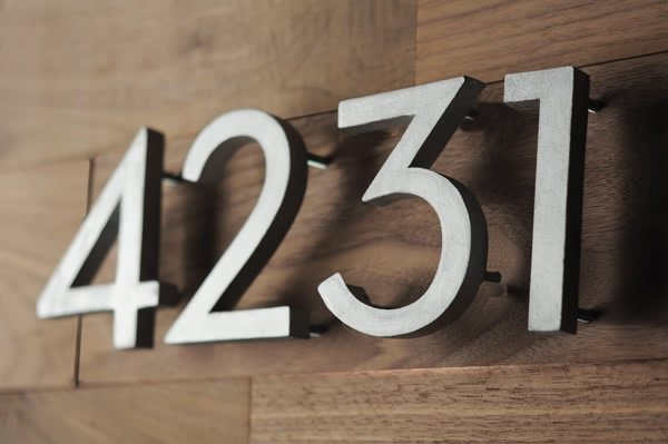 DIY Mid-Century Modern House Numbers | DIY Home Decorating Ideas For Mid Century Modern Lovers