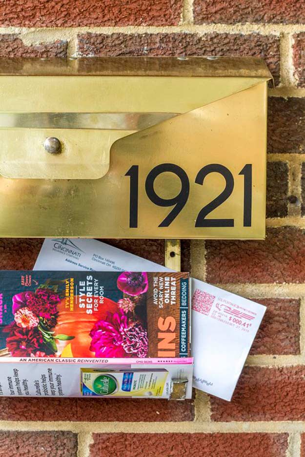 DIY Mid-Century Wall-Mounted Mailbox | DIY Home Decorating Ideas For Mid Century Modern Lovers