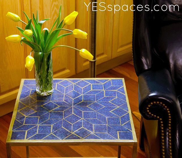 DIY Milo Baughman Cube Table | DIY Home Decorating Ideas For Mid Century Modern Lovers