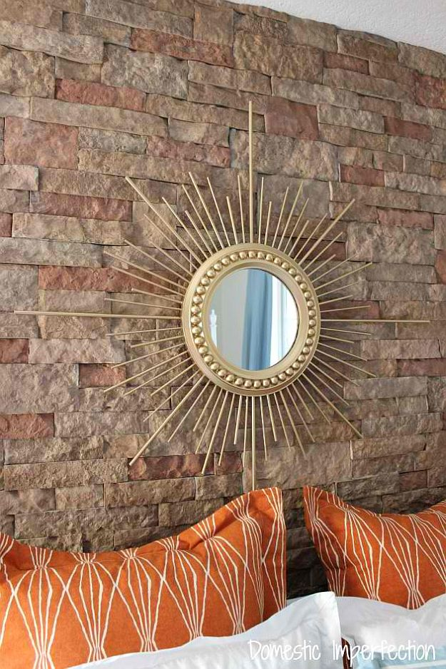 Diy Sunburst Mirror Home Decorating Ideas For Mid Century Modern
