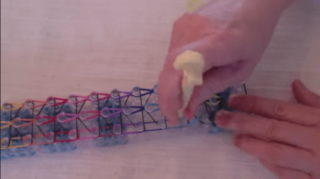 Turn loom around | How to Make a Colorful Loom Bracelet