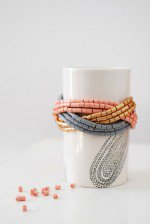 Simple Homemade Cuff DIY Beaded Bracelet |